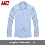 メンズタブカラー事務のワイシャツの黒の長い袖