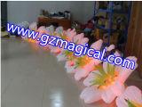 膨脹可能な広告は自動的に花LEDの装飾を開く