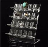 4 Niveles de grandes exhibiciones de la joyería de acrílico de 20 anillos de las PC