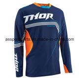 L'abito blu di stile conciso che cicla la Jersey per correre mette in mostra (MAT133)