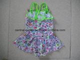 Allover Blume gedruckte Mädchen-Badebekleidung