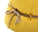 麻ロープが付いている余暇ファブリック豆袋の椅子の円形のオットマン