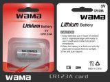 광저우 Wama Cr123A 리튬 이온 건전지 3V 1300mAh