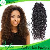 Do Virgin profundo não processado da onda de 100% trama brasileira do cabelo humano de Remy do cabelo