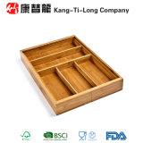 Organizador de bambu expansível da gaveta do Flatware do utensílio da cutelaria dos clássicos