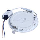 panneau en aluminium mince rond de Downlights de plafonnier d'interpréteur de commandes interactif de la lampe de panneau de 15W DEL SMD AC85-265V