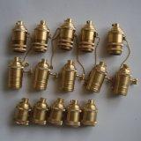 Suporte de bronze da lâmpada E26, jogos da lâmpada do vintage