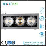Cabeça tripla projector ajustável Recessed do diodo emissor de luz