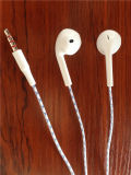 Wit 3.5mm Wired Earphone met Microphone voor iPhone