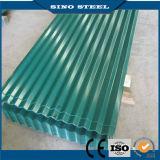 Feuille en acier ondulée de toiture galvanisée par couleur trapézoïdale de PPGI