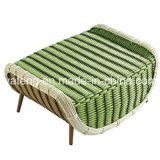 藤のソファーの一定の庭のソファーに対して防水紫外線は腰掛けとセットした