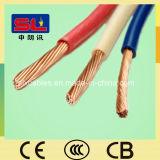 Draad h07v-k ElektroIsolatie 6mm van pvc van de Kern van het koper de Vastgelopen Flexibele Kabel
