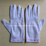 Противостатические Striped перчатки встали на сторону перчатки чистых перчаток защитные