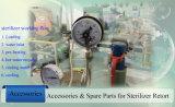 反対圧力滅菌装置のレトルト