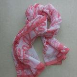 赤いポリエステルによって印刷される68dジョーゼットのスカーフ