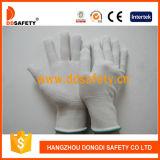 Белый PVC ставит точки перчатки одной бортовые Nylon безопасности с Ce Dkp413