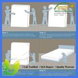 Protector impermeable blanco del colchón del bolsillo profundo de la talla de la reina de Terry