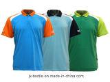 El corte de secado rápido 100% de la impresión del poliester y cose la Polo-Camisa