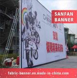 Bandera al aire libre del vinilo del formato grande, bandera de la flexión de la impresión