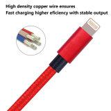 Het nylon vlechtte het Laden van de Kabel USB van de Bliksem van 8 Speld Koord met de Schakelaar van het Aluminium voor iPhone