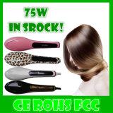 Escova nova do Straightener do cabelo da exposição do OEM LCD da cor