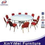 Conjunto superior de madera plegable de la mesa redonda del hotel del banquete del metal, vector de banquete