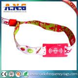 Персонализированный Wristband ткани празднества сплетенный RFID