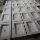 Form-Steinharz-festes Oberflächenschrank-Badezimmer-Bassin