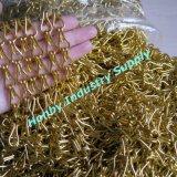 100% anodisierten 12mm Goldfarben-doppelte Haken-Aluminiumkette (P160301B)
