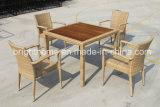 현대 Design Dining Chair 및 Teak Wood Top Leisure Outdoor Furniture (BP-3030)를 가진 Table