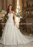 Mori Lee Schatz-elegantes Spitze-Satin-Organza Morilee Hochzeits-Kleid (Dream-100061)