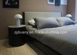 Cama matrimonial de cuero de madera de los muebles modernos del dormitorio de Divany (A-B37)