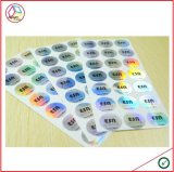 Etiquetas engomadas impermeables de encargo de la alta calidad