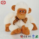 Juguete popular del regalo del juguete del bolso mullido blanco del caramelo del mono