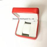 Contenitore di vigilanza di cuoio di qualità superiore con il marchio del metallo impresso