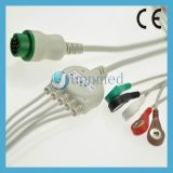 Pm5000, cable de Pm6000 ECG con los Leadwires