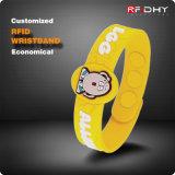 新型! 125のkHzマルチColor Custom Silicone RFID Wristband