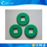 Tag RFID rond matériel d'ABS bon marché pour des points de patrouille