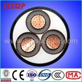 Средний кабель проводника напряжения тока 11kv медный изолированный XLPE электрический