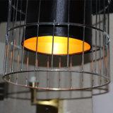 Satinless 호텔 프로젝트를 위한 강철 까만 감금소 펀던트 램프