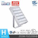 UL Dlc Listado 200w Proyectores LED para Iluminación de Garaje / Estadio / Plaza con TUV Cerfificado