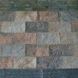 Piedra cultivada pizarra barata interior del revestimiento de la pared