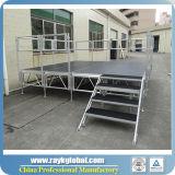 Этап алюминиевой платформы рамки деревянной напольный