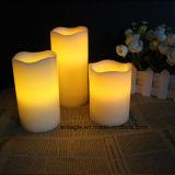 Weihnachtsfest-Zubehör-Farbe, die LED-Wachs-Kerze ändert