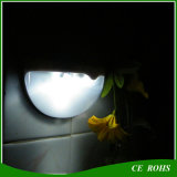 Solar al aire libre de la lámpara de pared del interruptor LED de la luz solar auto de la cerca accionado