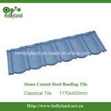 Azulejo de material para techos de acero revestido de piedra (azulejo clásico)