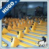 China 2.5 Ton PU o Bomba hidráulica Ruedas de nylon de la mano carro de plataforma