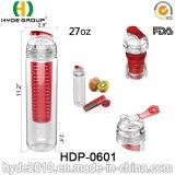 Дешевые 800ml BPA освобождают бутылку Infuser плодоовощ Tritan, подгонянную пластичную бутылку воды (HDP-0601)
