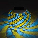 Lumière actionnée solaire imperméable à l'eau de Tableau en verre de mosaïque avec le changement de couleur