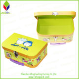 Folding branco Rigid Paper Packaging Storage Box com Hand